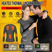 hot mens thermal underwear fleece lining thermal underwear usb electric heating jacket and pants keep warm in autumn and winter