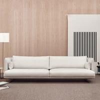 nordic fabric sofa modern minimalist living room sofa pine solid wood framecushion padding spongelatexlinen cotton fabric