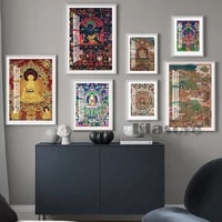buddha painting abstract wall art home decor zen prints mindfulness gift canvas living room decorate vintage poster picture