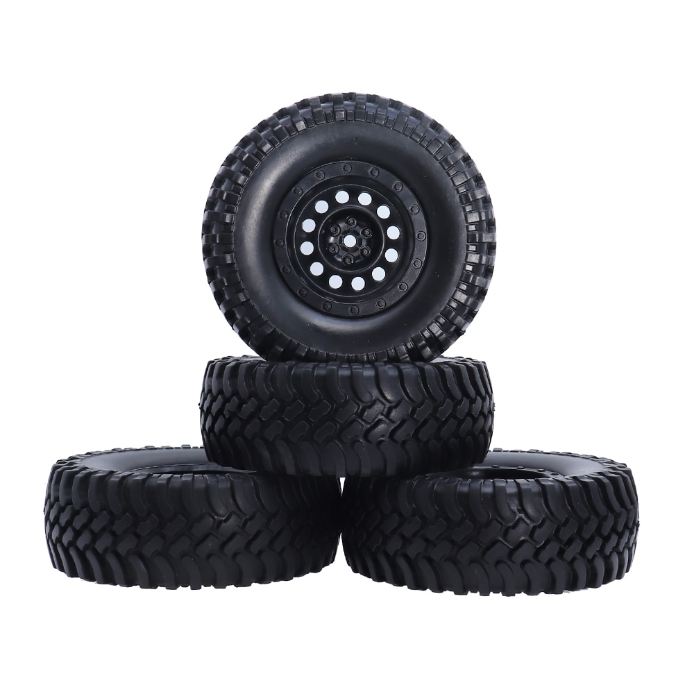 4 Uds 1/10 RC Rock neumáticos crawler OD100mm de 12mm de plástico 1,9 pulgadas Beadlock ruedas para las 110 escala camión de CC01 D90 D110 TF2 Coche