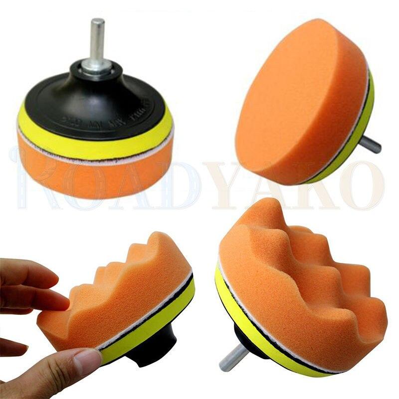 Roadyako-Kit de esponja pulidora para coche, M10, adaptador de taladro, herramienta de lavado de revestimiento de limp
