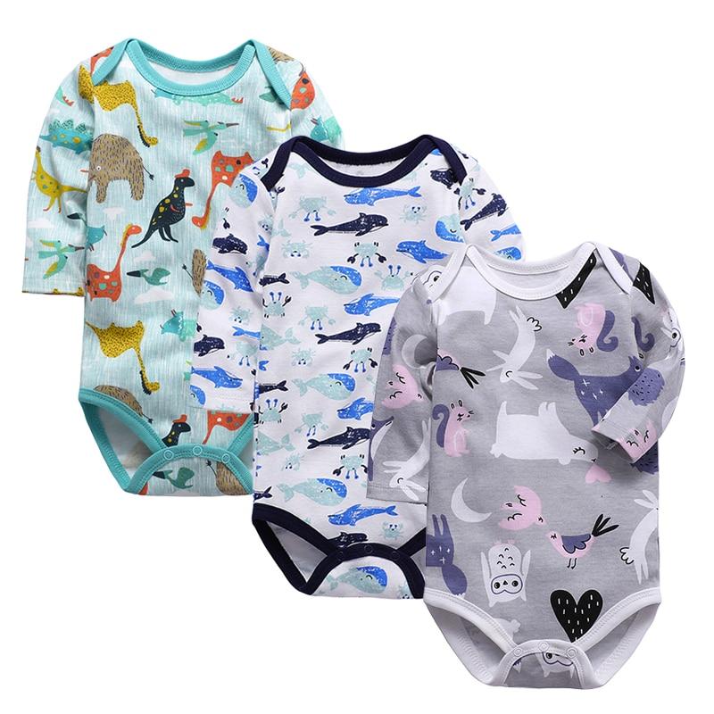 Bodis de bebé con cuello doblado, ropa de manga larga para bebé, monos de invierno para bebé, ropa para bebé recién nacido, conjunto de Mono para niña