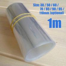 Boîtier de batterie Lipo Transparent 1m   Tube thermorétractable en PVC, accessoires de modèle, étui de batterie 30/50/60/70/85/90/95/110mm