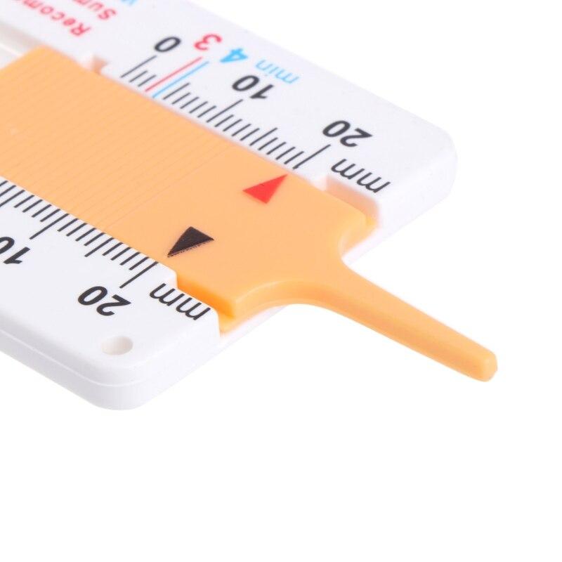 Medidor de profundidad del dibujo del neumático, herramienta para medir llaveros, llaveros y ruedas para motocicletas y automóviles