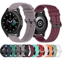 soft silicone band for samsung galaxy watch 4 40mm 44mm sport watch bracelet for samsung galaxy watch 4 classic 42mm 46mm correa