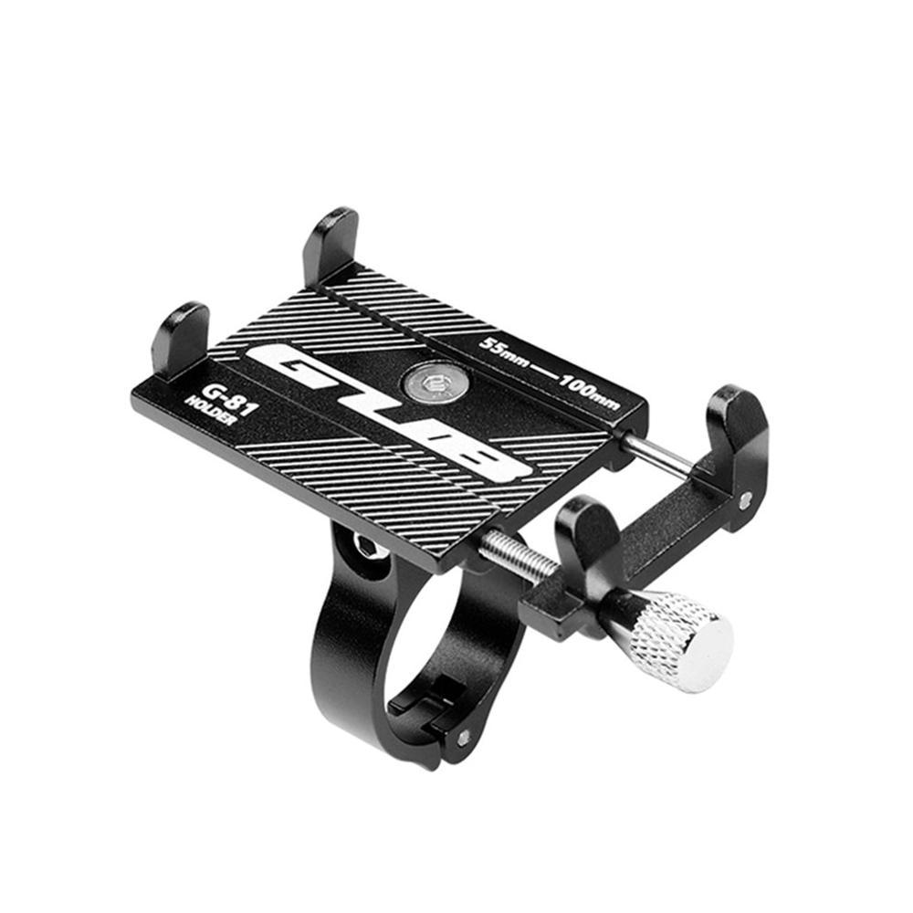 Велосипедный телефонный держатель GUB G81, G-81 алюминиевый регулируемый кронштейн для смартфонов 3,5-6,2 дюймов, GPS-навигаторов