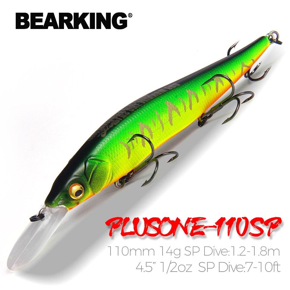 Bearking professionelle Wobbler 110mm 14g Dive 1,8 m SP Angeln Lockt Künstliche Köder Predator Tackle JERKBAIT für hecht und bass