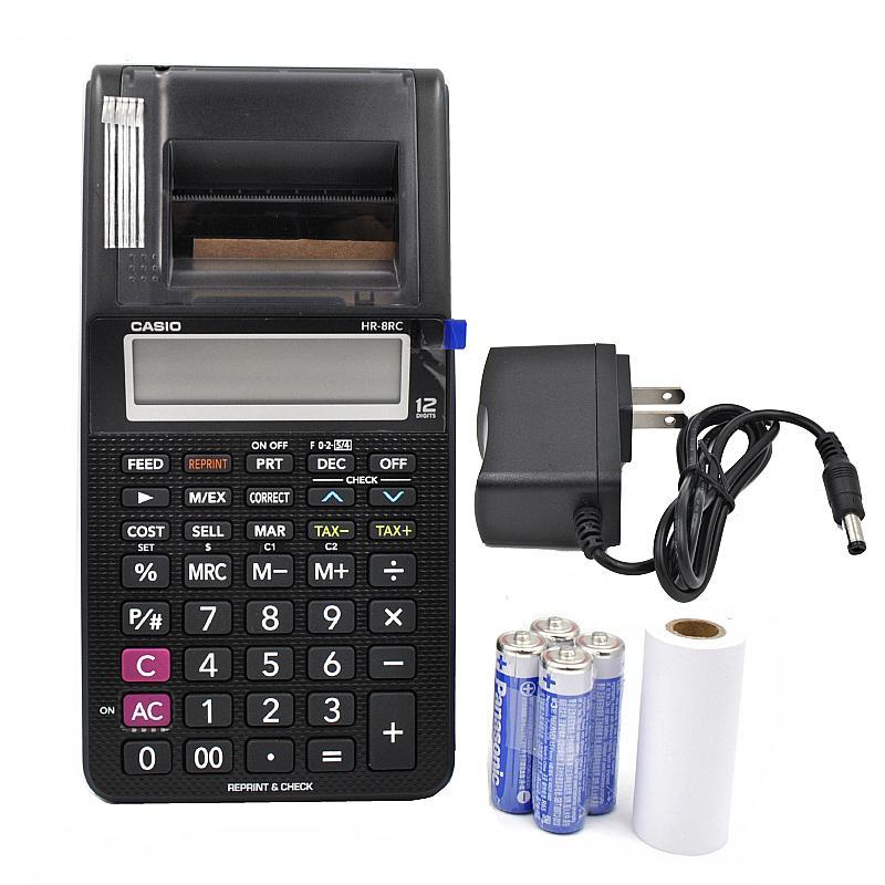 الطباعة حاسبة HR-8RC البطارية و DC ثنائي الأغراض سطح المكتب جلدية السلطة المزدوجة 12 أرقام الحساب الطباعة الكمبيوتر