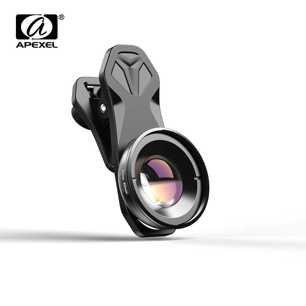 APEXEL HD 30-80 مللي متر ماكرو عدسة التصوير 10x سوبر ماكرو العدسات ل فون xiaomi redmi huawei mostsmartphones dropshiping من