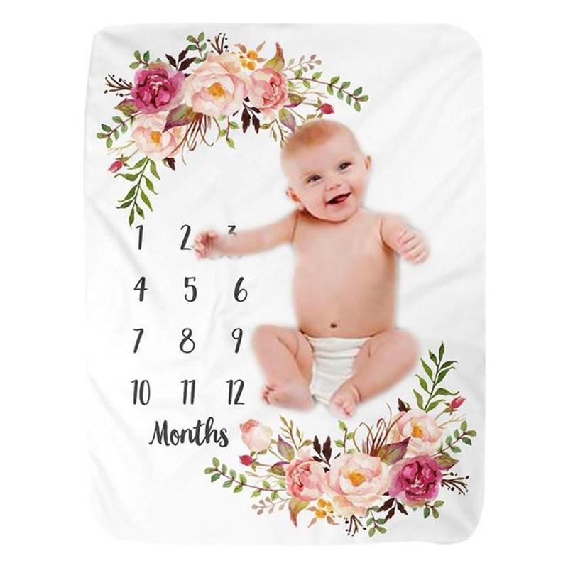 12 месяцев, детское одеяло, ежемесячное детское одеяло, мягкое детское одеяло для новорожденных, реквизит для фотосессии с крыльями ангела, о...