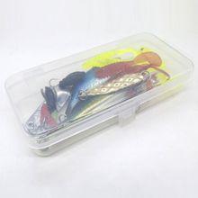 22 Pcs/set Simulated Fish Worm Spinning Hooks Fishing Bait Sequins Equipment Bag Freshwater Fishes Fake Bionic Baits Y98F