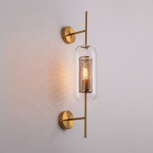 Nordic LED Glass Wall Light Fixtures Indoor Wall Lamp Sconces for Living Room Bedroom Bedside corridor Lamp Modern Home Lighting