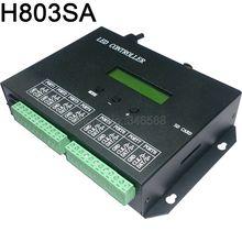H803SA 8port Offline/Stand-alone/tarjeta SD Color píxel controlador 8192 píxeles soporte DMX consola LPD6803 WS2811 WS2812 etc.