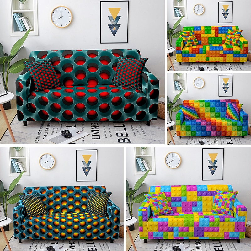 marble sofa cover sofa slipcovers elastic couch covers sectional sofa covers sofa set loveseat armchair sofa couch cover 3D Sofa Covers for Living Room Corner Sofa Cover Elastic Couch Slipcovers Sofa Protector funda sofa Couch Cover 1-4 Seaters