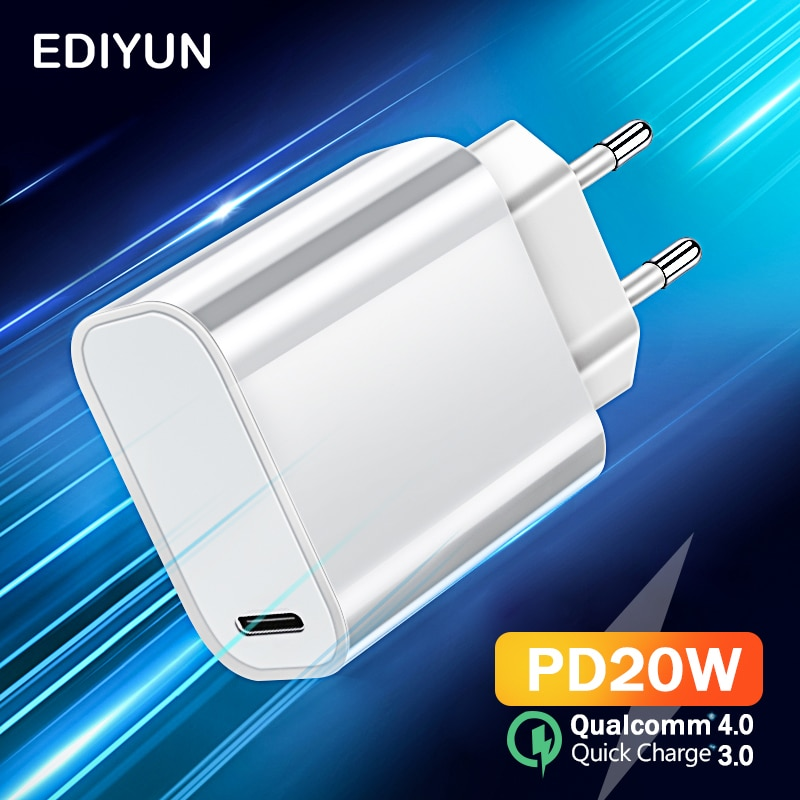 Quick Charge 3.0 QC PD Charger 20W 18W Fast Charging Power Adapte For iPhone 12 11 X Xs Xr Pro Max 6 7 8 iPad Huawei Xiaomi LG