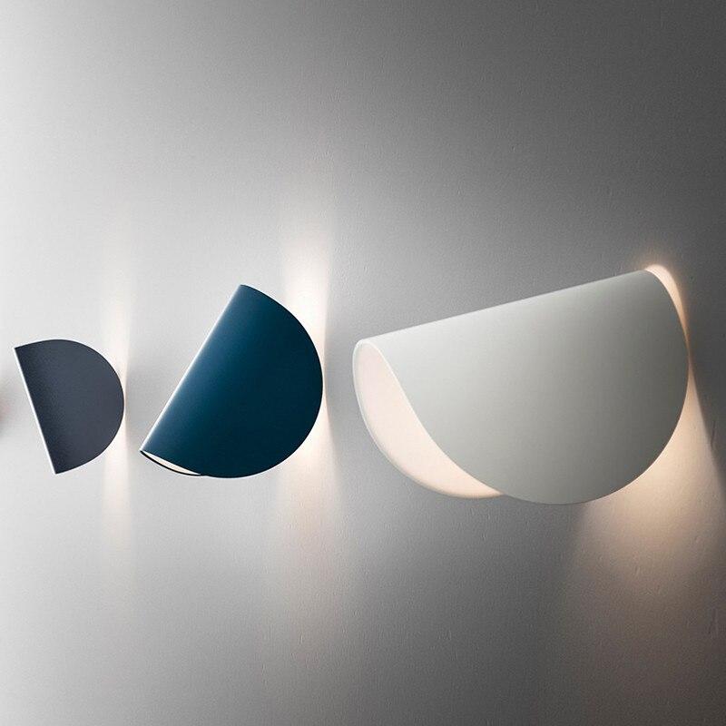 Fontana Arte لو وحدة إضاءة LED جداريّة مصباح لغرفة النوم غرفة المعيشة السرير الجانب اللون الجدار ضوء ديكور فني الإبداعية الدورية الجدار مصباح