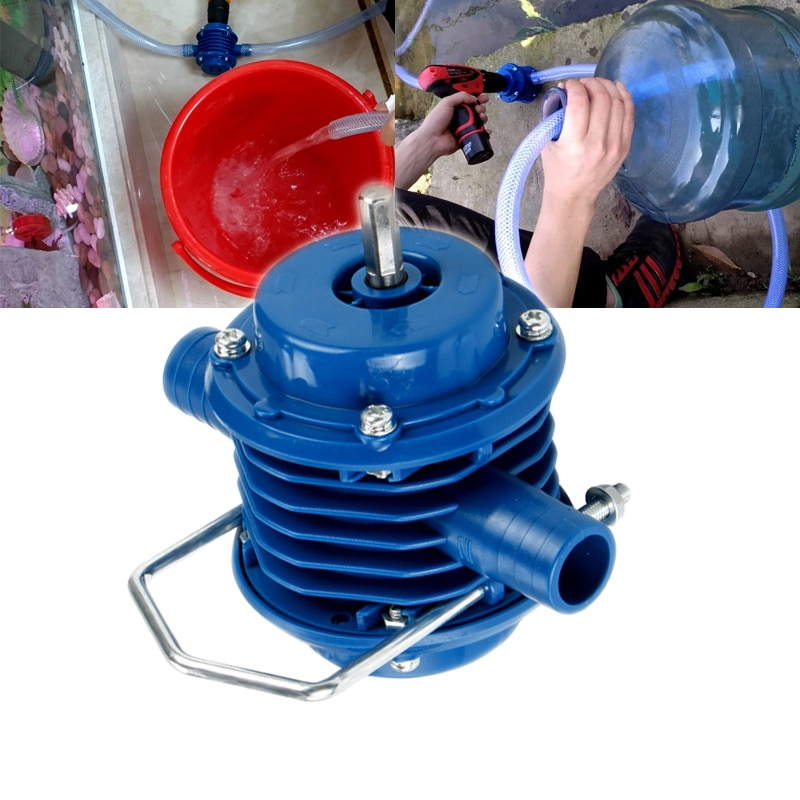 Водяной насос сверхмощный самовсасывающий ручной насос с электродрелью домашний садовый центробежный лодочный насос водяной насос высоко...