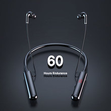 Bluetooth Headphones 5.0 Wireless Headphone 60 Hours Endurance Stereo Bass  Neckband Power LED Displ
