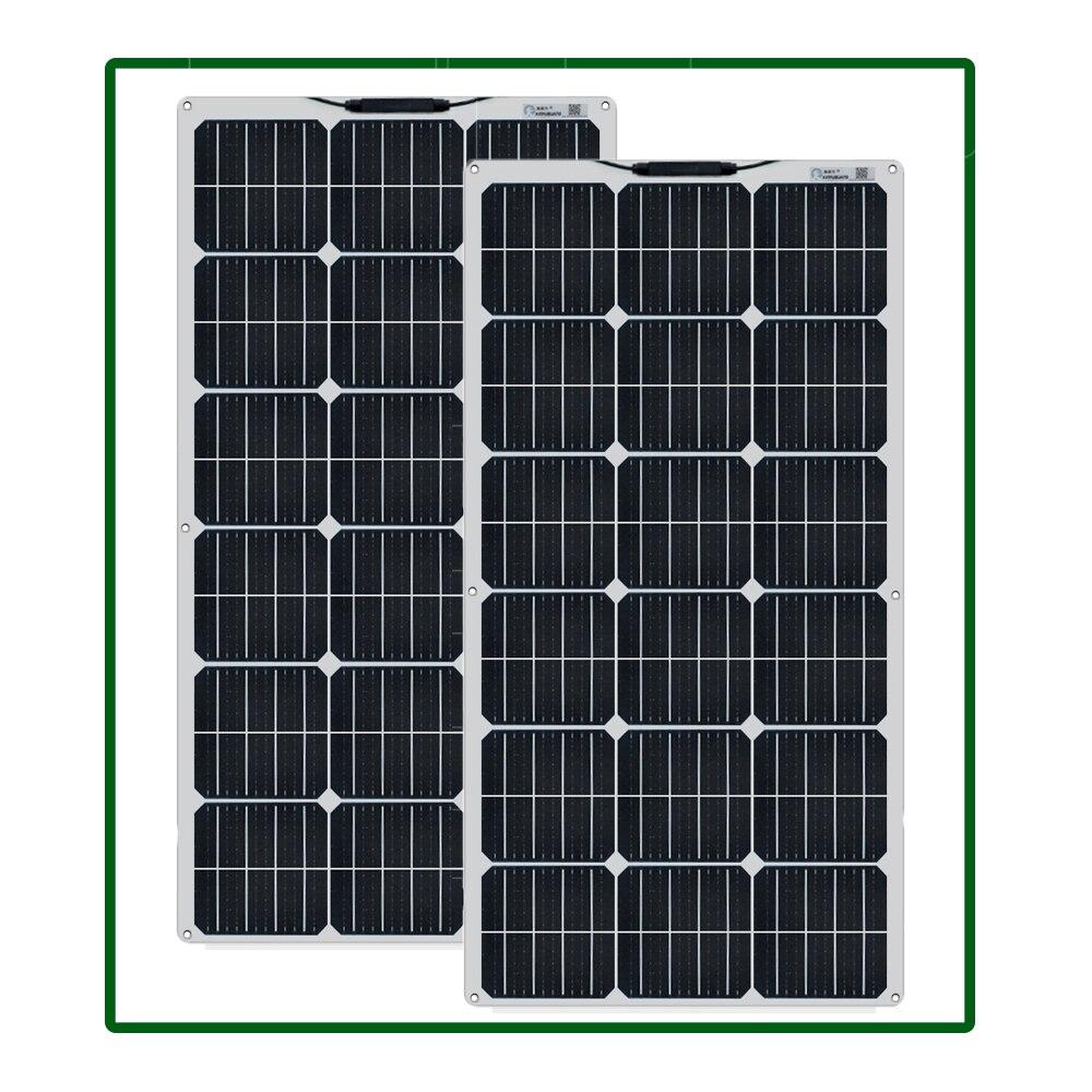 كيت Panneau solaire Monocristallin 100 واط 200 واط 300w 600w 1000w صب التخييم-سيارة ، باتو ، Caravane