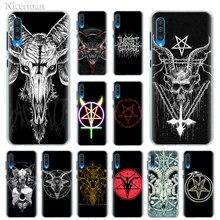 Pentagram 666 Demonische Satanic Case voor Samsung Galaxy A10e A10 A10s A20 A20e A30s A40 A50 A50s A60 A70 A80 telefoon Shell Cover