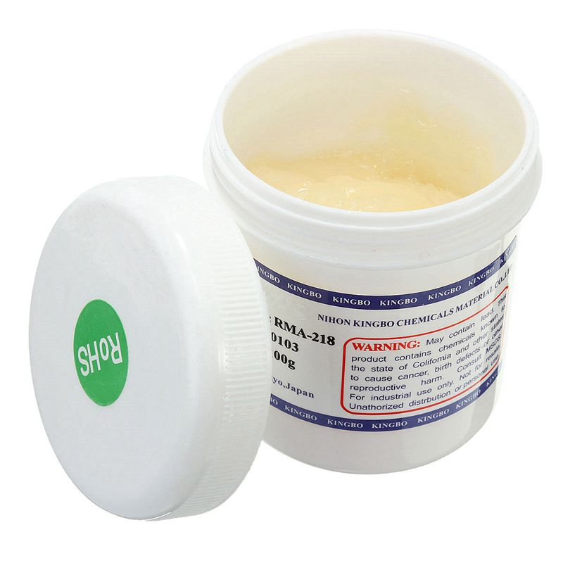Botique-1Pc BGA RMA-218 pasta soldadora para soldaduras aceite reparación por Reballing fundente pasta 100g nuevo