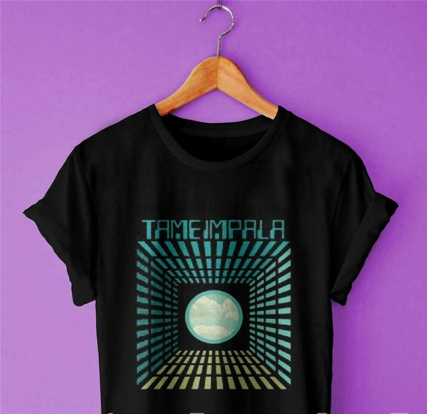 Popular New Tame Impala Music Band Logo Casual Black White Unisex Shirt S-3Xl Short-Sleeved Tee Shirt