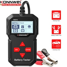 Тестер KONNWEI KW210 для автомобильного аккумулятора, анализатор для автомобильных аккумуляторов 12 В, инструмент для захвата и зарядки