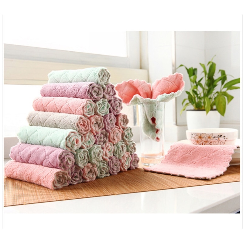 Super Absorbent Microfiber kitchen dish Cloth High-efficiency absorbent  non-stick oil household dishwashing Cleaning Towel недорого