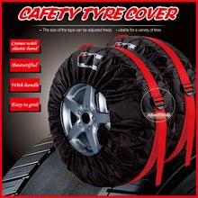 4 шт. 13 23 дюймов Чехол для шин, чехол для автомобильных запасных шин, сумки для хранения, переносные полиэфирные шины для автомобилей, Защитные чехлы для колес