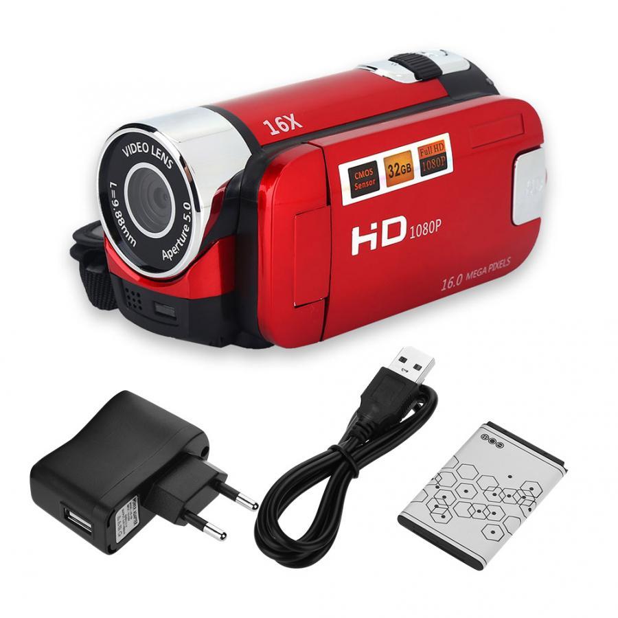 vlog camera 1080P Full HD 16MP DV Camcorder Digital Video Camera 270 degree Rotation Screen 16X Night Shoot Zoom Digital Zoom,