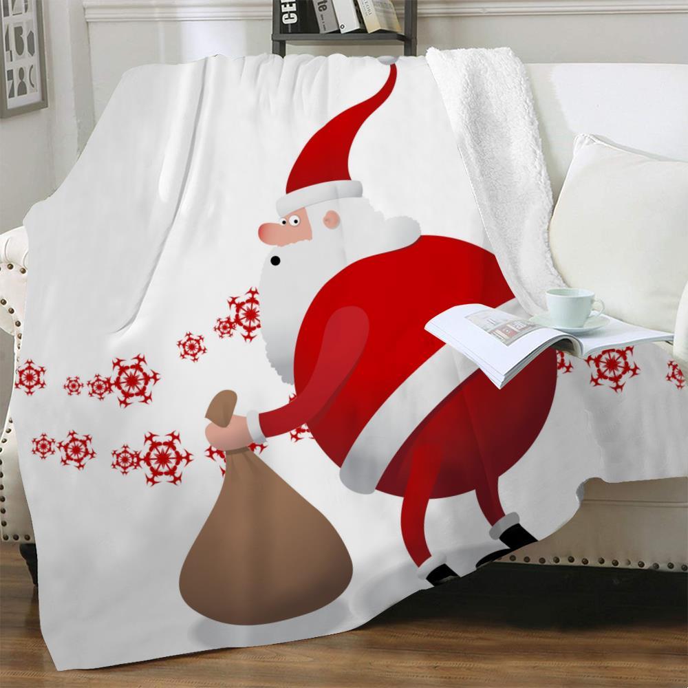 NKNK برانك عيد الميلاد بطانية السنة الجديدة ثلاثية الأبعاد طباعة ندفة الثلج المفرش للحزب السرير الفراش رمي شيربا بطانية Vintage جديد
