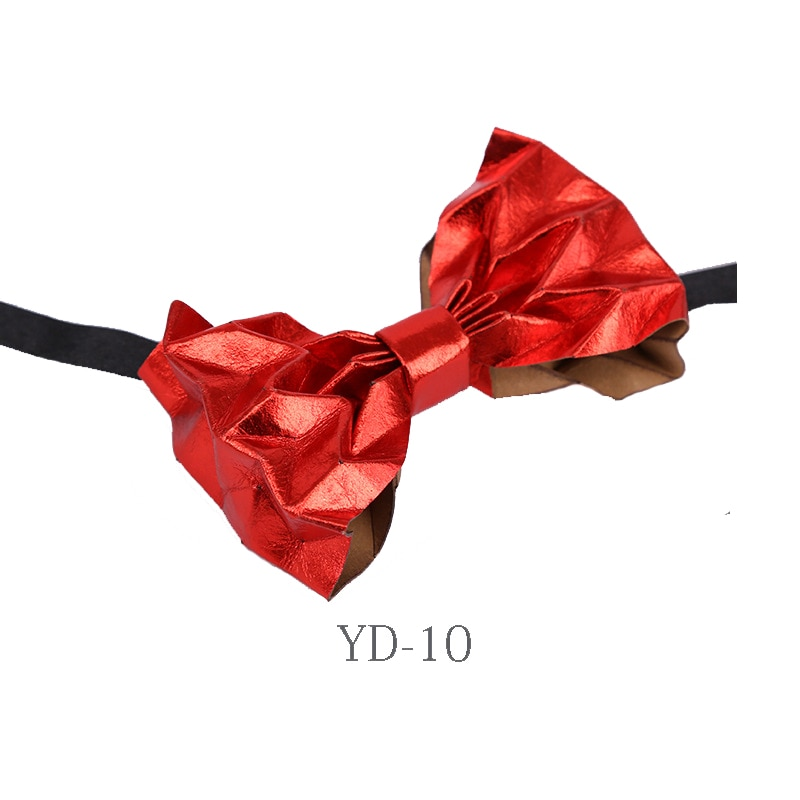 Bow Tie Hand-folded Kraft Paper High-grade Men's Unisex Wedding Banquet Party Host Suit Shirt Accessories Novelty Bowtie Gifts