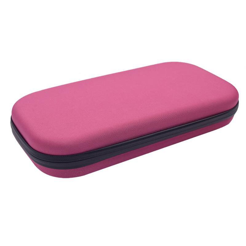 Estuche estuche caja dura de almacenamiento estetoscopio organizador de viaje bolsa Eva rosa