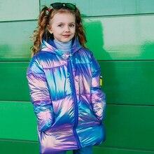 Veste en duvet épais pour filles, manteau en coton coloré, costume de neige, parka chaude pour filles