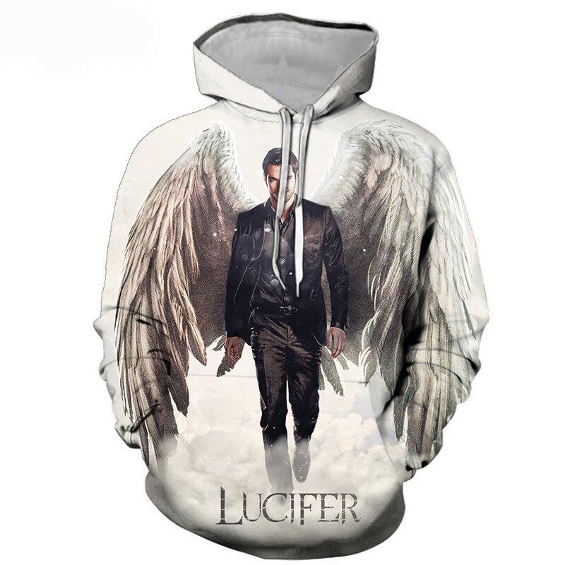 Новинка, худи из коллекции 5 сезон с 3D принтом, худи из коллекции Lucifer для мужчин и женщин, мужской повседневный уличный пуловер с капюшоном