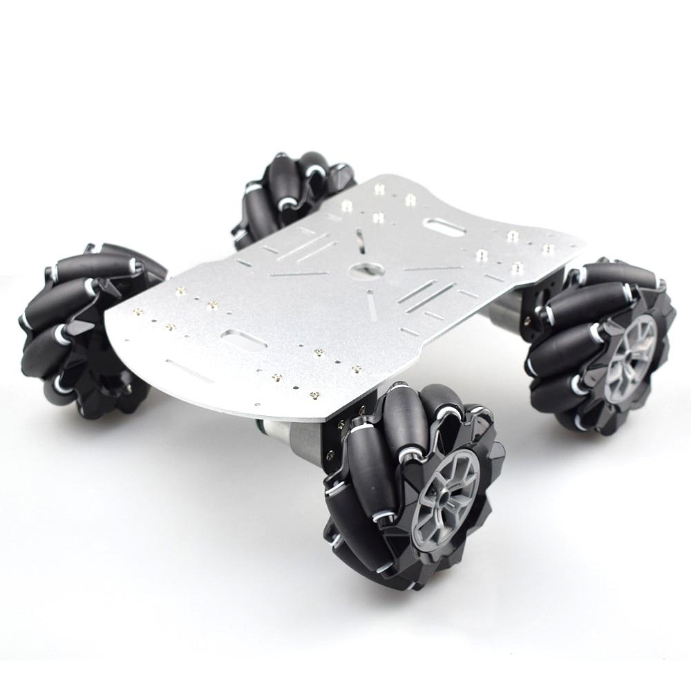 15 кг нагрузки 4WD 96 мм комплект шасси автомобильного робота с колесами Mecanum с двигателем кодировщика постоянного тока 12 В для Arduino Raspberry Pi «сде...