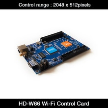 Huidu HD-W66 Full Color LED Display Module Outdoor P3 P4 P5 P6 P8 P10 Video LED Controller HD-W66 LED Display Control Card