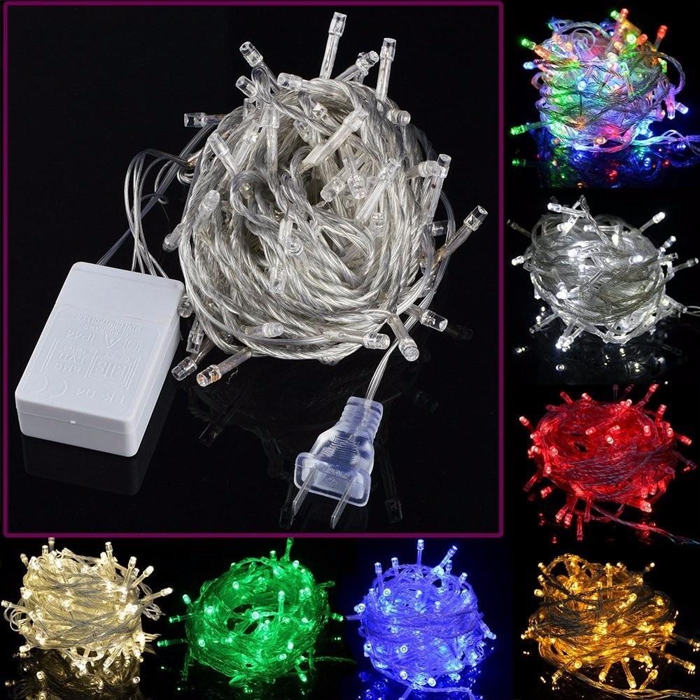 20M luces de Navidad 200LED Led decorativo Cadena de hadas de guirnaldas de luces para boda fiesta Luces De vacaciones multi-color
