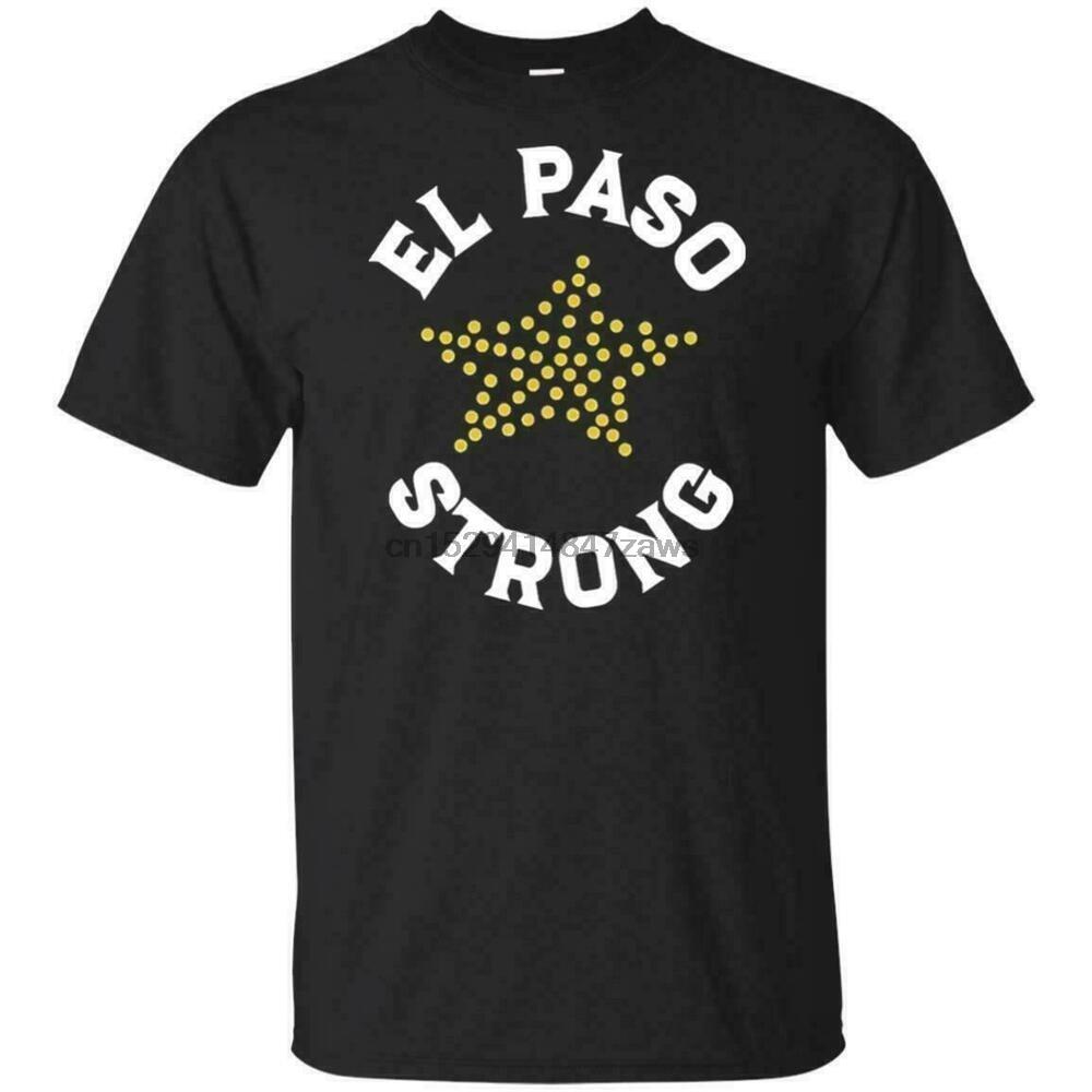 El paso forte camisa texas bandeira camiseta engraçado preto vintage presente para homem