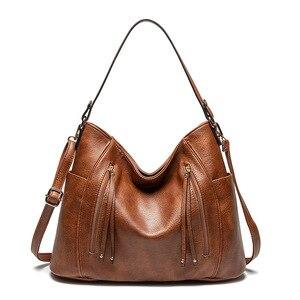 Luxury Women Bag Handbags Women Famous Brand Messenger Bags Leather Designer Handbag 2019 Vintage Big Hobos Female Bag Sac bolso