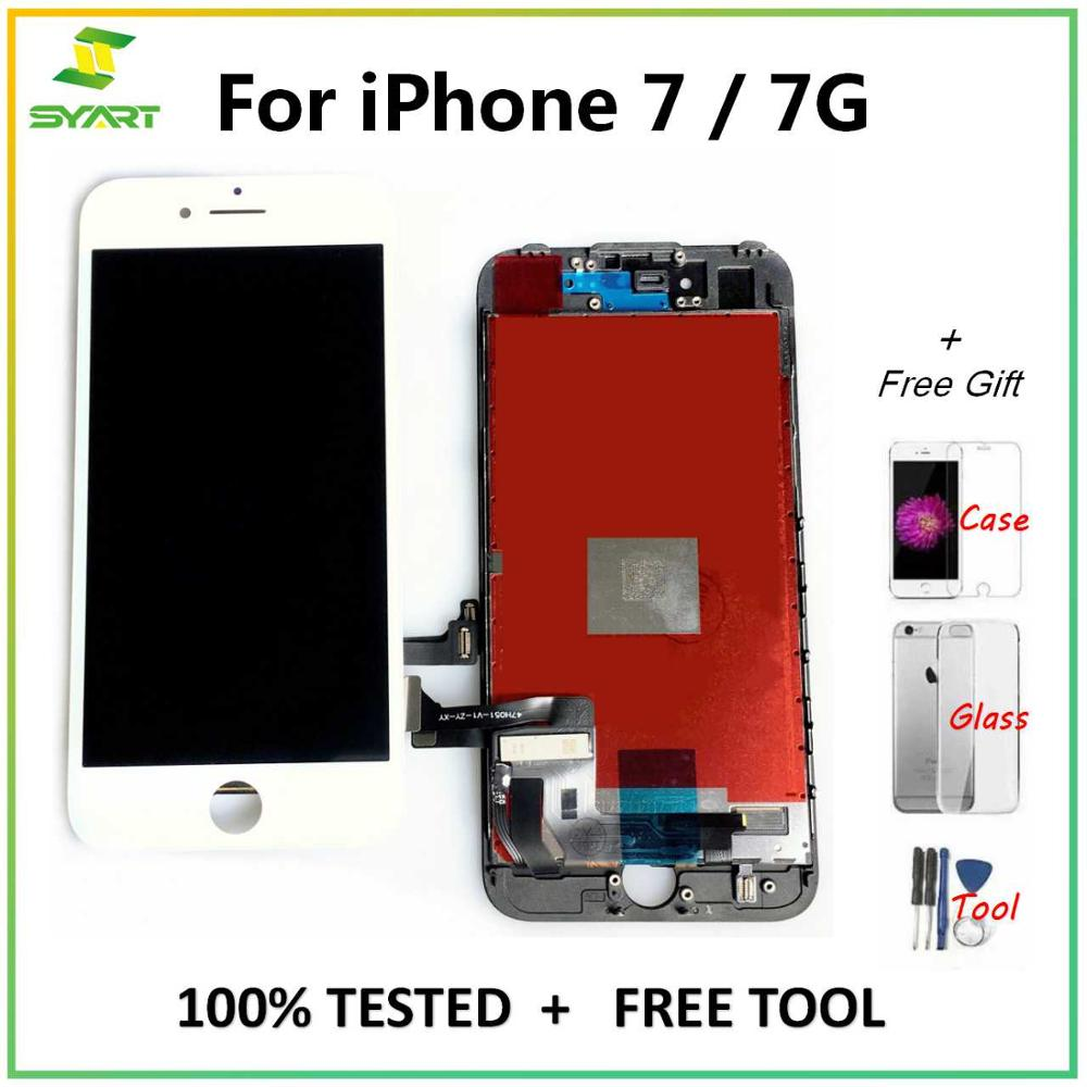 ЖК-дисплей для iPhone 7 7G + кодирующий преобразователь сенсорного экрана в сборе, Сменные аксессуары для iPhone 7, экран 4,7 дюйма