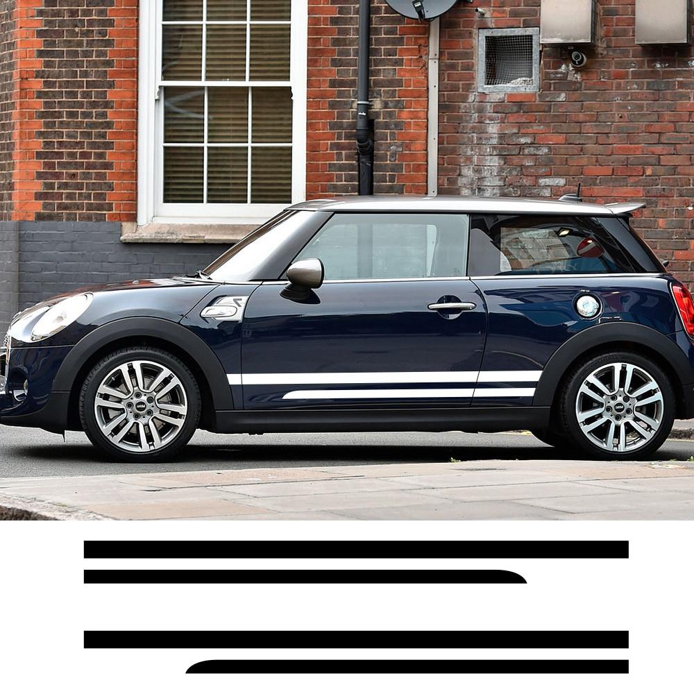 Pegatinas de puerta lateral de coche 2 uds. Para Mini Cooper Countryman R60 Cooper S,D,ALL4,One,SD,JCW, pegatinas de película de vinilo, personalización de automóviles