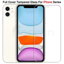 9H Tempered Protective Glass For iPhone 11 12 Pro XR X XS Max Screen Protector Film on iPhone 7 6 8
