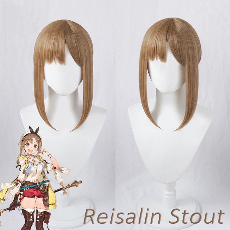 Reisalin Stout Bejaia peluca juego Atelier Bejaia: alguna vez la oscuridad y el escondite secreto Cosplay cabello Reisalin Stout Bejaia Cosplay
