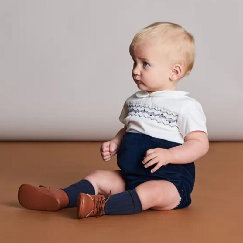 Детский костюм для мальчиков, Белая кофта и шорты, испанская кофта для новорожденных, лето 2021