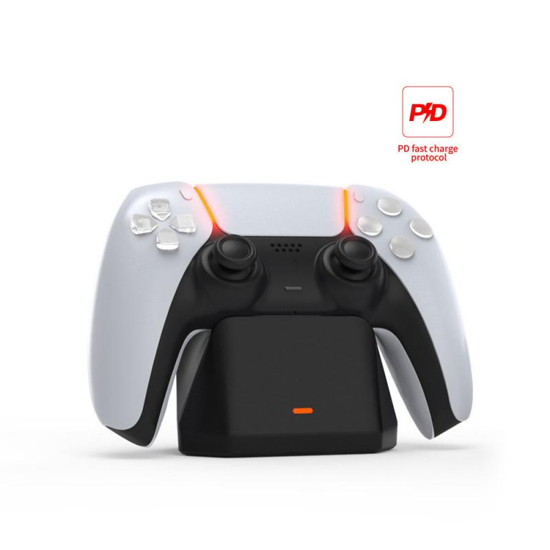 Зарядное устройство для PS5 контроллер LED один Тип-C USB зарядная док-станция для Sony Playstation 5 Беспроводной геймпад съемная подставка