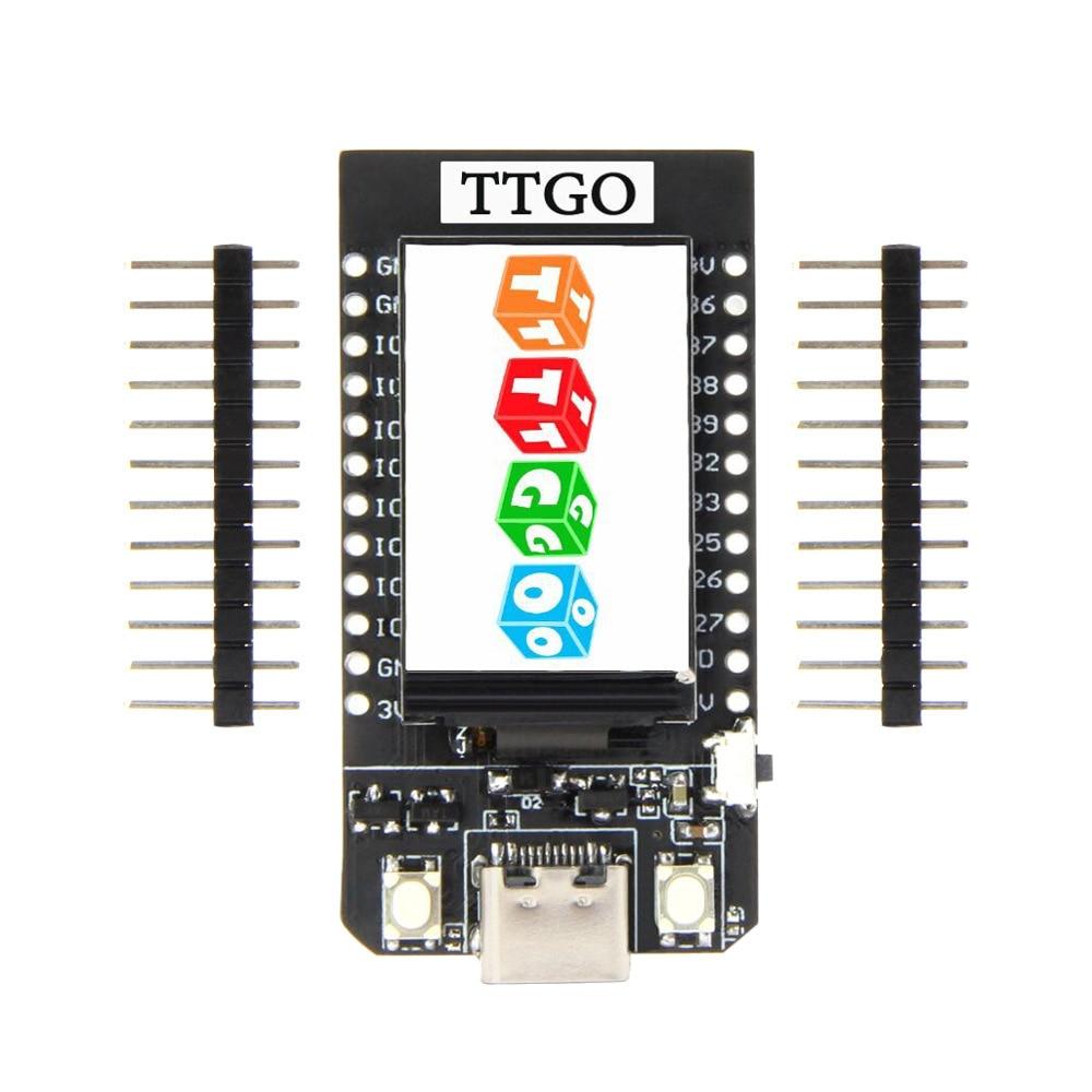 LEORY TTGO T-عرض ESP32 CP2104 واي فاي بلوتوث-متوافق مع وحدة 1.14 بوصة LCD مجلس التنمية لاردوينو