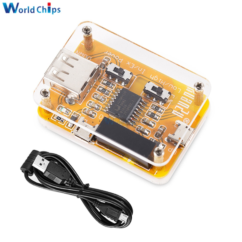 ADUM4160 USB to USB Isolator Module 1500V Industrial Isolator Protection with Acrylic Case For HIFI System USB Debugging Device