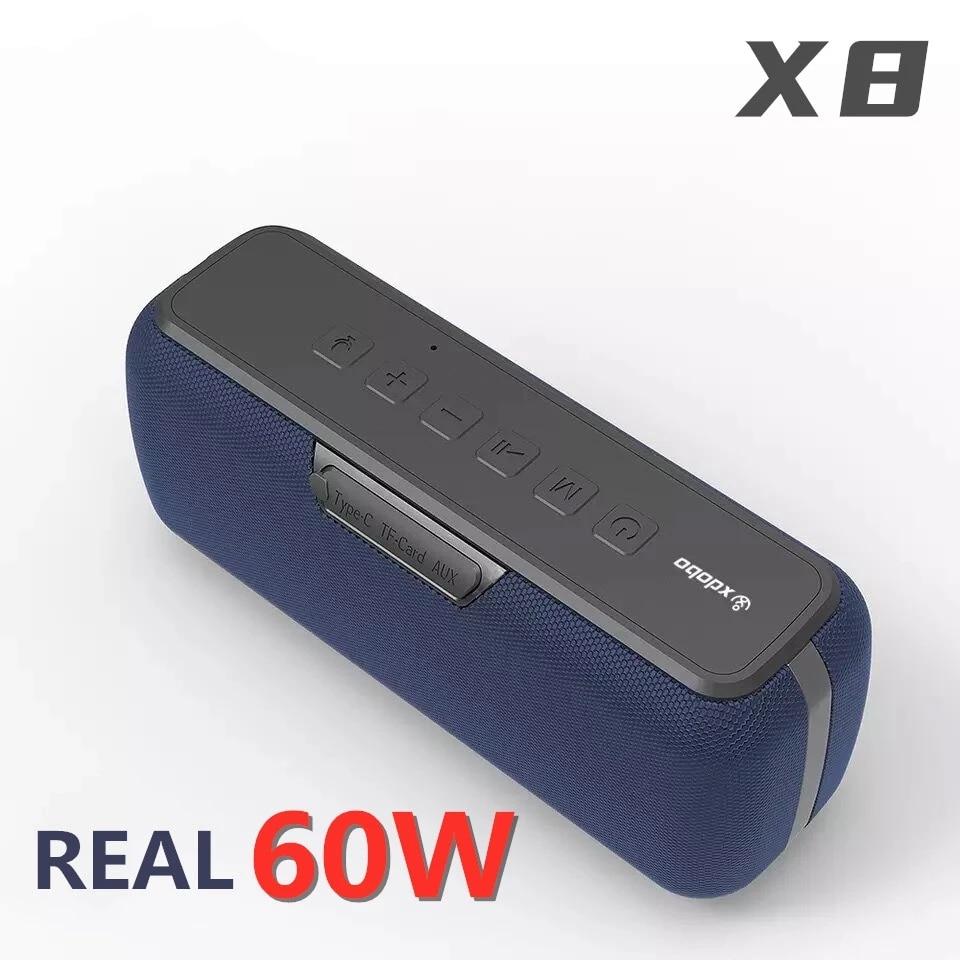 XDOBO-مكبر صوت بلوتوث X8 100% ، مكبر صوت عالي الطاقة 60 وات ، عمود لاسلكي ، مقاوم للماء ، DSP ، مضخم صوت ، مركز موسيقى مع مساعد صوت ، 6600 مللي أمبير