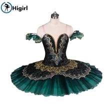 Or vert professionnel tutu ballet costume adulte noir cygne lac ballet tutu à vendre tutu ballerine costumes mebt8941